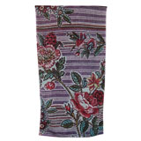 Fresco Indigo Rose Taupe Bath Towels | Gracious Style
