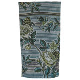 Fresco Indigo Rose Green Bath Towels | Gracious Style