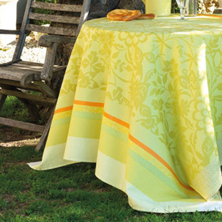 Provence Lemon Green Table Linens