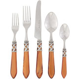 Aladdin Stainless Flatware in Antique Brown | Gracious Style