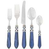 Aladdin Stainless Steel Flatware in Antique Blue | Gracious Style