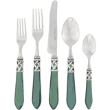 Aladdin Stainless Flatware in Antique Green | Gracious Style