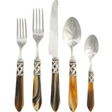 Aladdin Stainless Flatware in Antique Horn | Gracious Style