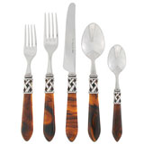 Aladdin Stainless Flatware in Antique Tortoiseshell | Gracious Style