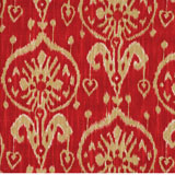 Dinner Napkins - Ikat Red Print Fabric | Gracious Style
