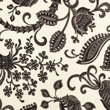 Dinner Napkins - Black &amp; White Floral Print &#124; Gracious Style