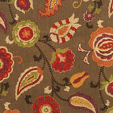 Vietri Nutmeg Modern Paisley Fabric Napkins &#124; Gracious Style