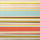 Dinner Napkins - Coral Multi Stripe Fabric | Gracious Style