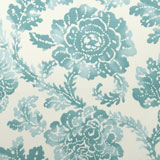 Dinner Napkins - Aqua Blue Abstract Floral Print &#124; Gracious Style