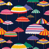 Dinner Napkins - Indigo Umbrellas Print Fabric | Gracious Style