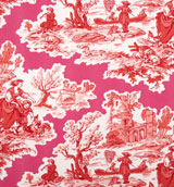 Fuschia&#47;Red Toile Napkins 