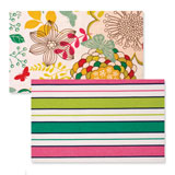 Reversible Placemats - Butterfly Pink Stripe | Gracious Style