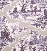 Gray&#47;Light Purple Toile Napkins 