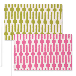 Reversible Placemats - Pink Lime Green Links &#124; Gracious Style