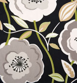 Black&#47;Metallic Gold Poppy Napkins 