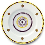 Agra Yellow  Dinner Plate | Gracious Style