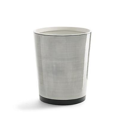 Kassatex tribeka grey bath accessories gracious style for Grey bathroom bin