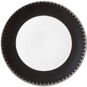 Limoges Porcelain Dishes from L'Objet - Aegean Filet Ebony | Gracious Style