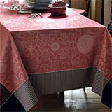 Garnier Thiebaut Appoline Red Table Linens | Gracious Style