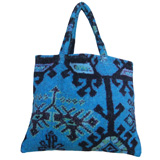 Aztec Blue Small Terry Tote Bag by Fresco | Gracious Style