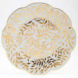 Olivier gold Dinner plate 10.75 inch | Gracious Style