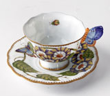 Butterfly Handle Cup and Saucer by Anna Weatherley | Gracious Style