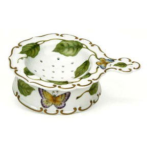 Porcelain Tea Strainer by Anna Weatherley | Gracious Style