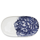 Peony Blue 16 in Oval Platter | Gracious Style