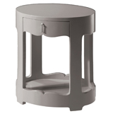 Bungalow 5 Brigitte Oval Side Table Gray | Gracious Style