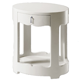 Bungalow 5 Brigitte Oval Side Table White | Gracious Style