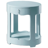 Bungalow 5 Brigitte Oval Side Table Blue | Gracious Style