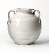 Bellezza White Round Handled Vase | Gracious Style