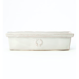 Bellezza White Rectangular Cachepot | Gracious Style