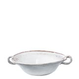 Bellezza White Medium Handled Serving Bowl | Gracious Style