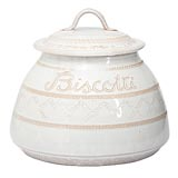 Bellezza White Biscotti Jar | Gracious Style