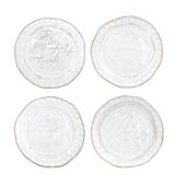 Bellezza White Assorted Canape Plates | Gracious Style