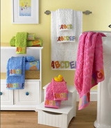 Bambini ABC Bath Towels by Kassatex | Gracious Style
