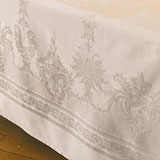 Garnier-Thiebaut Beauregard Ivory Table Linens &#124; Gracious Style