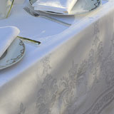 Garnier Thiebaut Beauregard White Table Linens &#124; Gracious Style