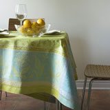 Linen Way Birds Green Tablecloths and Napkins &#124; Gracious Style