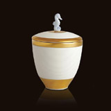 L'Objet Luminescence Small Seahorse White Limoges Porcelain Candle | Gracious Style