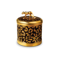 Leopard Candle 4 x 4.5 in