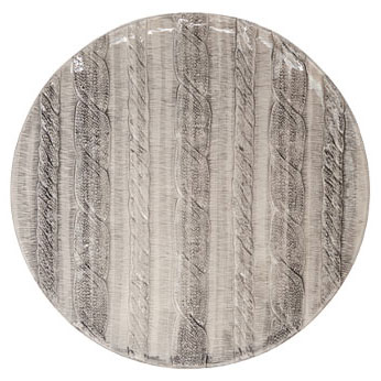 Vietri Cable Knit Heather Gray Dinnerware | Gracious Style