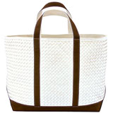 Woven Leather Tote Bags by Lance Wovens | Gracious Style
