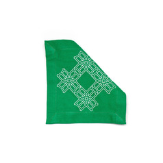 Truman Cocktail Napkin 6 in x 6 in Green