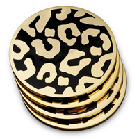 Leopard Coaster Set, Four