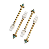 Fortuny Cocktail Forks Venise (Set of 4) 4.75 in