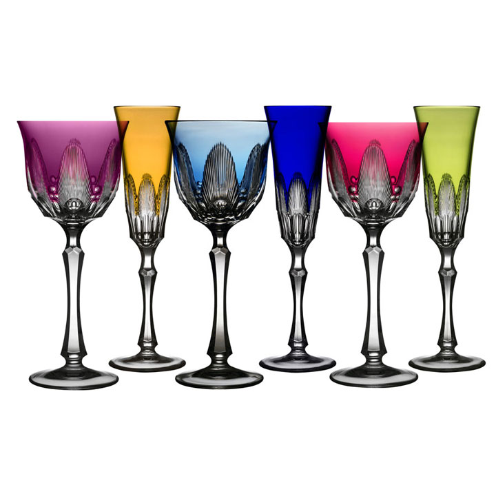Captiva Colored Crystal Stemware by Varga | Gracious Style