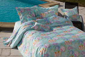 Caraibes Sheets, Duvet Covers, Shams and Bedskirts in Cotton Sateen  | Gracious Style