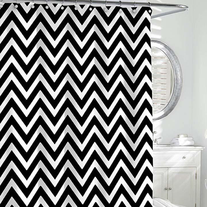 Chevron Shower Curtain Gracious Style